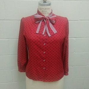 Vintage secretary blouse